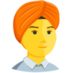 👳 Facebook / Messenger «Person Wearing Turban» Emoji - Messenger-Anwendungs version