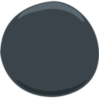 Facebook Emoji ⚫ - Black Circle Messenger
