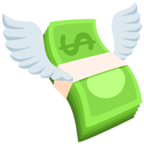 💸 Facebook / Messenger Money With Wings Emoji - Facebook Messenger