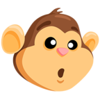 Смайлик Facebook 🐵 - Monkey Face В Messenger'е