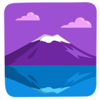 🗻 Facebook / Messenger «Mount Fuji» Emoji - Messenger Application version