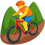 🚵 Facebook / Messenger «Person Mountain Biking» Emoji - Messenger-Anwendungs version