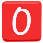 🅾 Facebook / Messenger «O Button (blood Type)» Emoji - Messenger Application version