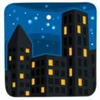 Facebook Emoji 🌃 - Night With Stars Messenger