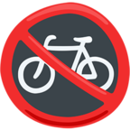 Facebook Emoji 🚳 - No Bicycles Messenger