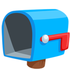 📭 Facebook / Messenger «Open Mailbox With Lowered Flag» Emoji - Messenger Application version