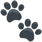 Facebook Emoji 🐾 - Paw Prints Messenger