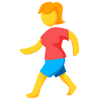 🚶 Facebook / Messenger «Person Walking» Emoji - Messenger-Anwendungs version