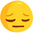 😔 Facebook / Messenger Pensive Face Emoji - Facebook Messenger