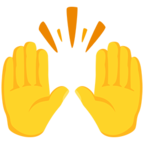 Facebook Emoji 🙌 - Raising Hands Messenger