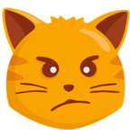 😾 Смайлик Facebook / Messenger Pouting Cat Face - В Facebook Messenger'е