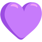Facebook Emoji 💜 - Purple Heart Messenger
