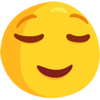 😌 Facebook / Messenger Relieved Face Emoji - Facebook Messenger