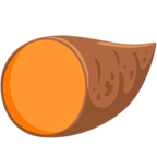 Facebook Emoji 🍠 - Roasted Sweet Potato Messenger