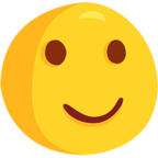 Facebook Emoji 🙂 - Slightly Smiling Face Messenger