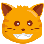 😺 Facebook / Messenger «Smiling Cat Face With Open Mouth» Emoji - Messenger-Anwendungs version