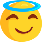 😇 Facebook / Messenger Smiling Face With Halo Emoji - Facebook Messenger