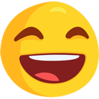 😄 Facebook / Messenger Smiling Face With Open Mouth & Smiling Eyes Emoji - Facebook Messenger