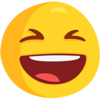Смайлик Facebook 😆 - Smiling Face With Open Mouth & Closed Eyes В Messenger'е