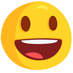 Смайлик Facebook 😃 - Smiling Face With Open Mouth В Messenger'е