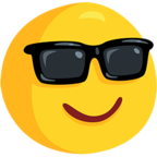 Facebook Emoji 😎 - Smiling Face With Sunglasses Messenger