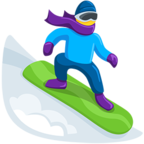 🏂 Facebook / Messenger «Snowboarder» Emoji - Messenger Application version
