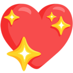 💖 Смайлик Facebook / Messenger Sparkling Heart - В Facebook Messenger'е