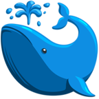 Facebook Emoji 🐳 - Spouting Whale Messenger