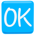 🆗 Facebook / Messenger OK Button Emoji - Facebook Messenger