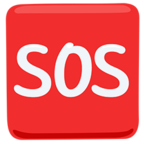 🆘 Facebook / Messenger SOS Button Emoji - Facebook Messenger