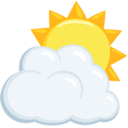 Facebook Emoji ⛅ - Sun Behind Cloud Messenger