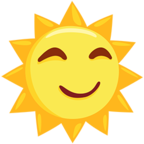 🌞 Facebook / Messenger «Sun With Face» Emoji - Messenger Application version