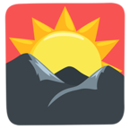 🌄 Facebook / Messenger Sunrise Over Mountains Emoji - Facebook Messenger