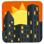 Facebook Emoji 🌇 - Sunset Messenger