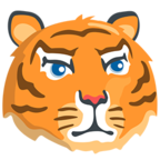 Facebook Emoji 🐯 - Tiger Face Messenger