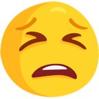 😫 Facebook / Messenger Tired Face Emoji - Facebook Messenger