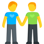 👬 Two Men Holding Hands Emoji para Facebook / Messenger - Facebook Messenger