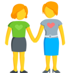 👭 Facebook / Messenger Two Women Holding Hands Emoji - Facebook Messenger