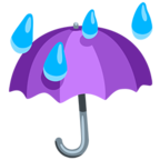 Facebook Emoji ☔ - Umbrella With Rain Drops Messenger