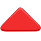 🔺 Facebook / Messenger «Red Triangle Pointed Up» Emoji - Messenger Application version