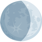 Facebook Emoji 🌒 - Waxing Crescent Moon Messenger