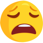 😩 Facebook / Messenger «Weary Face» Emoji - Messenger Application version