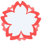 💮 Facebook / Messenger «White Flower» Emoji - Messenger Application version