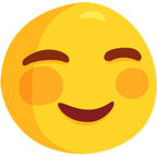 ☺ Смайлик Facebook / Messenger Smiling Face - В Facebook Messenger'е