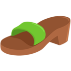 Facebook Emoji 👡 - Woman's Sandal Messenger