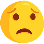 😟 Worried Face Emoji para Facebook / Messenger - Facebook Messenger
