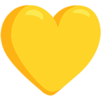 💛 Facebook / Messenger Yellow Heart Emoji - Facebook Messenger