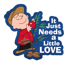 La navidad de Charlie Brown Facebook sticker #8