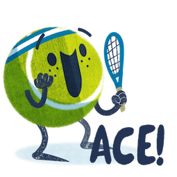 Ace la star du tennis Facebook sticker #1