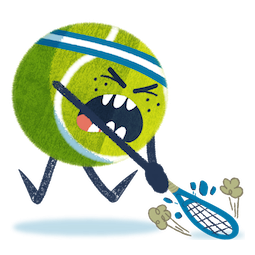 Ace la star du tennis Facebook sticker #2